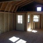 Deluxe lofted barn cabin interior